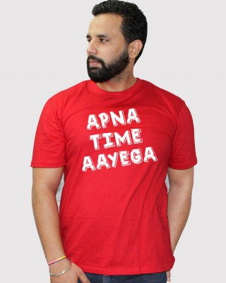 Khopche apna time aayega red tshirt