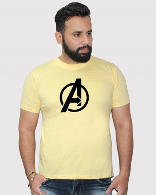 Khopche avenger yellow round neck t shirt